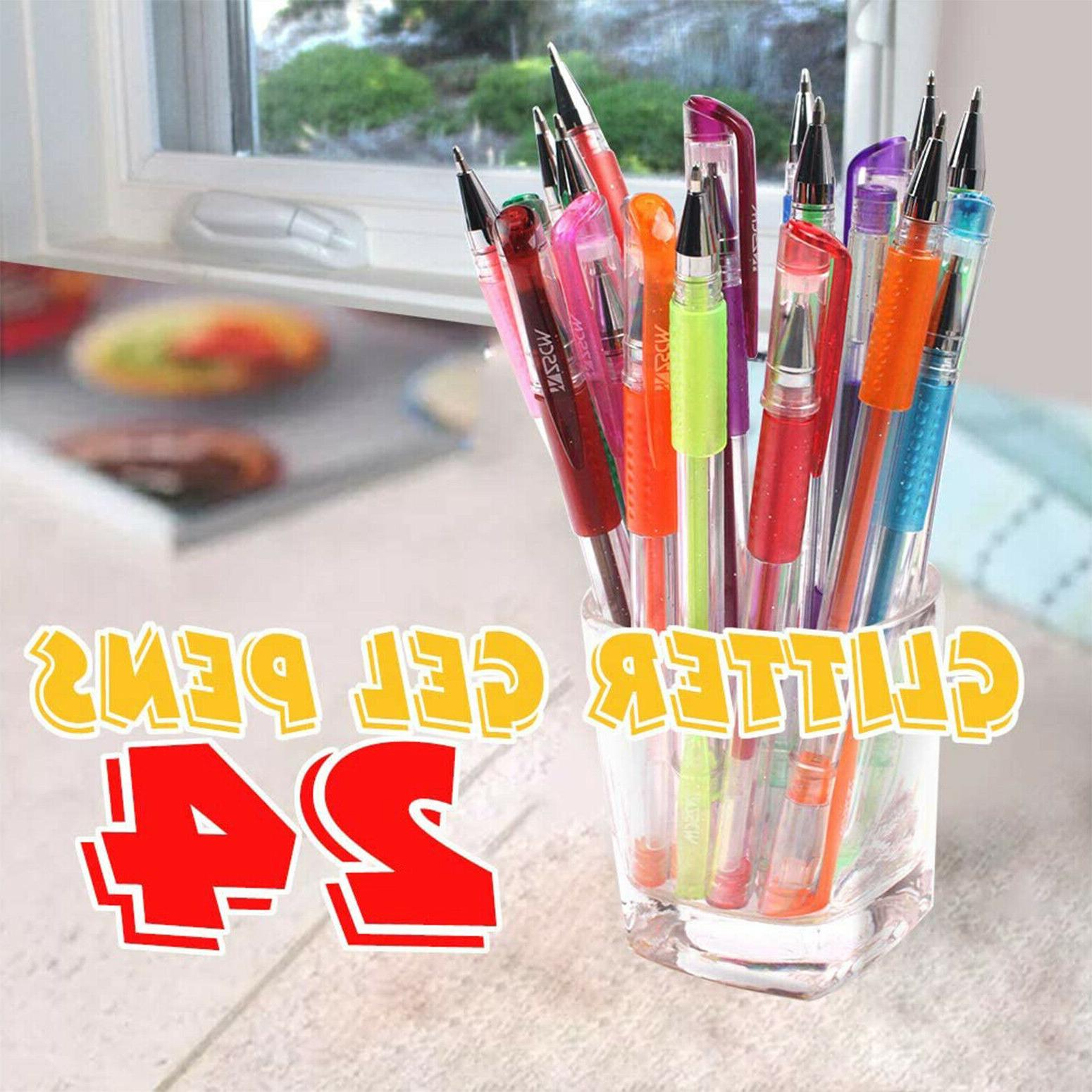 Gel Pens Colored For Coloring Books Kids Adult