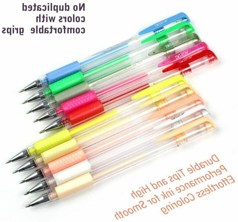 Gel 48 Colored Coloring Books Drawing Marker Kids
