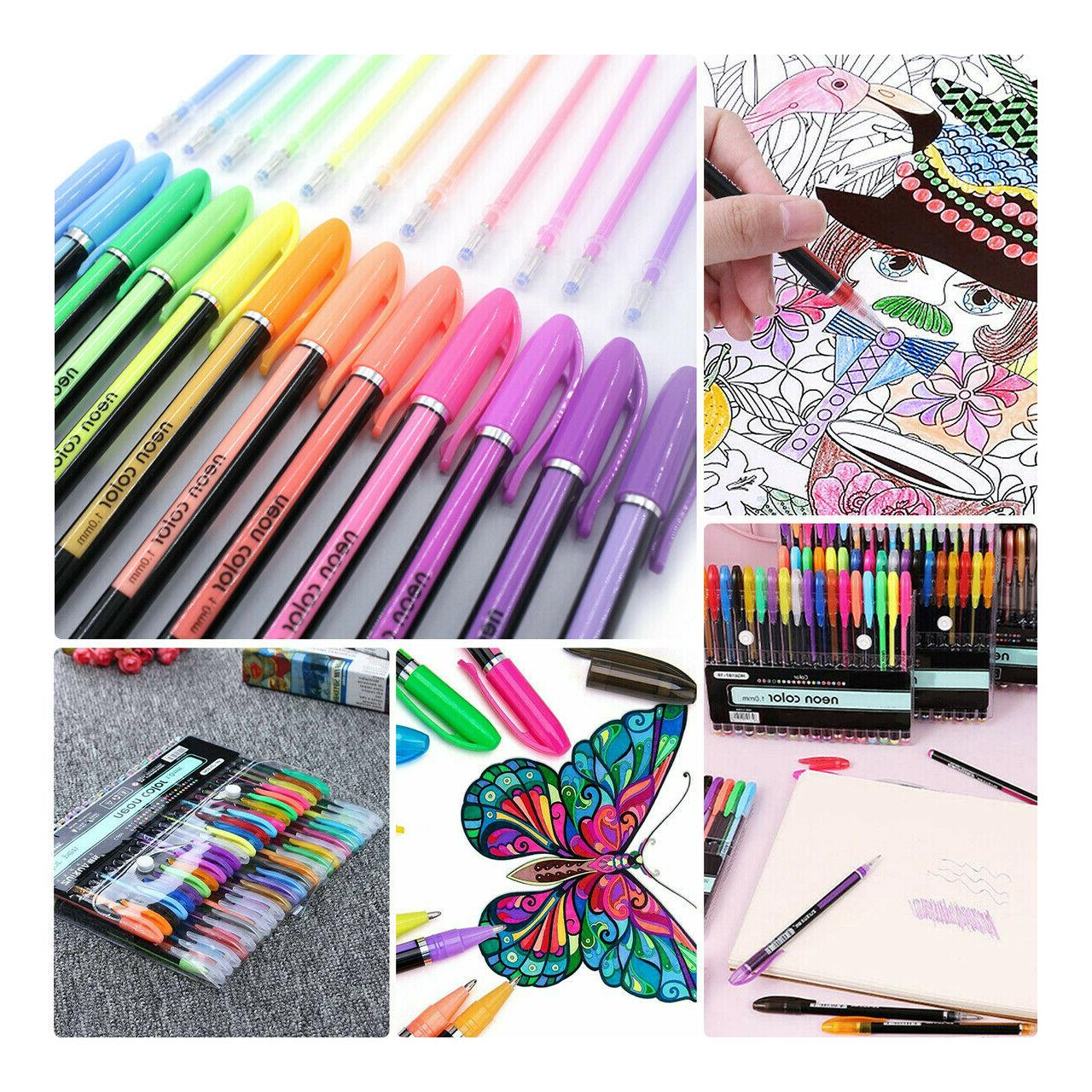 Gel Colored Glitter For Books Drawing Marker Adult Kids