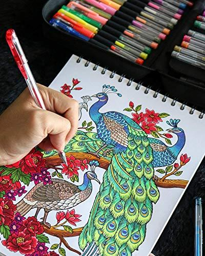 ColorIt For Adult Coloring Set Includes 48 Artist Quality Pens: Metallic, 48 Matching 96