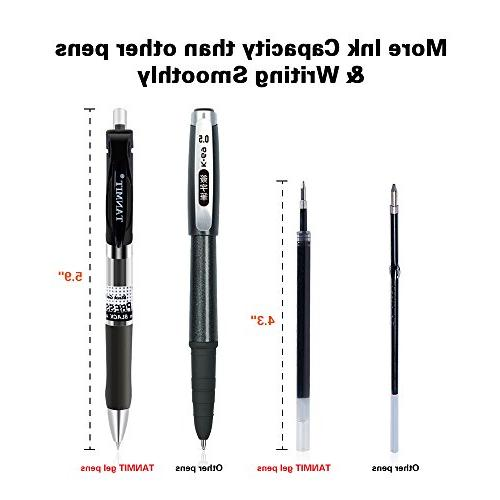 Tanmit Black Ink Fine Point Ballpoint Writing Pen for 0.5mm Grip