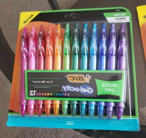 BIC Gelocity Retractable 2×12-Pack Assorted Colors=24