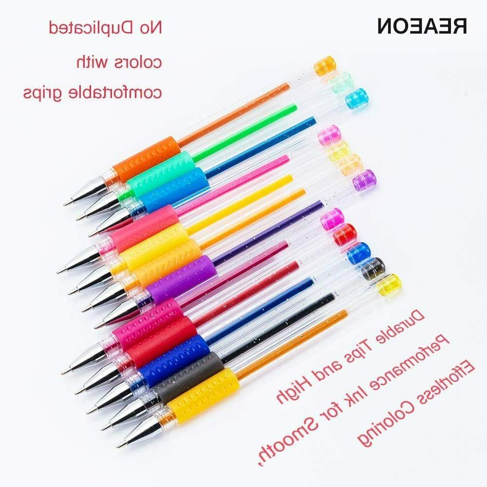 Glitter Pens 24 Colored with Refills