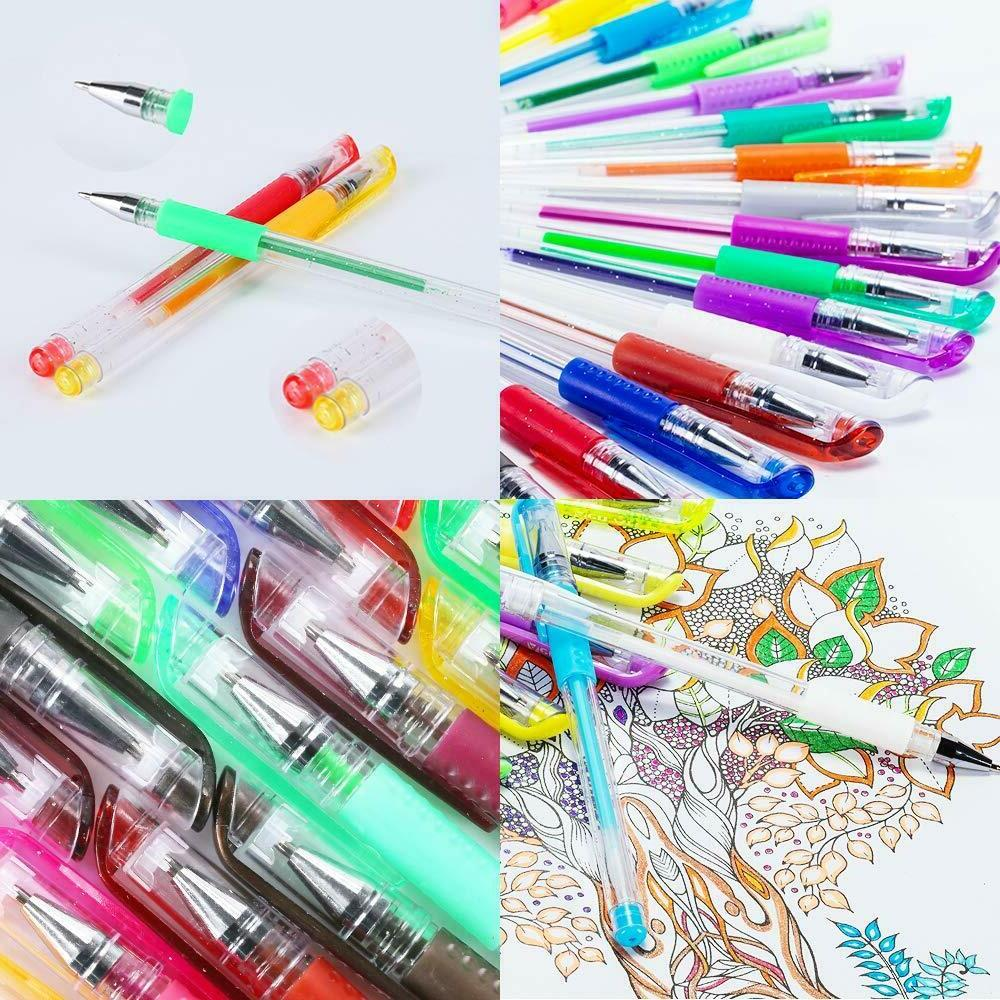 Glitter Gel Set 80 Colors Gel Markers Pen Painting