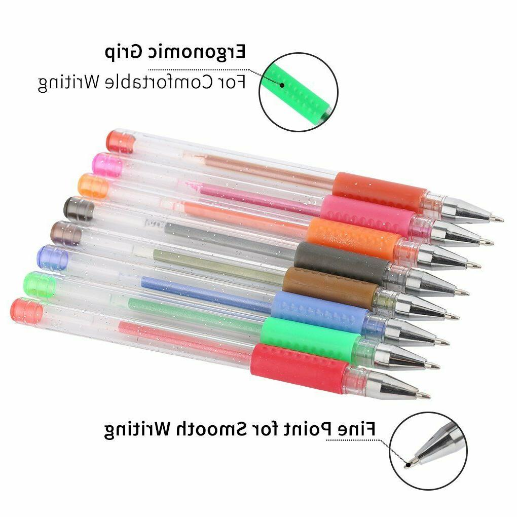 Glitter Gel Set 80 Colors Markers Pen Adult Painting Art