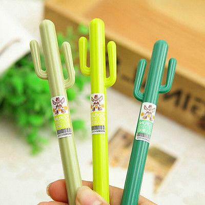 Green Grass Cactus Gel Pens For Writing Stationery Supplies