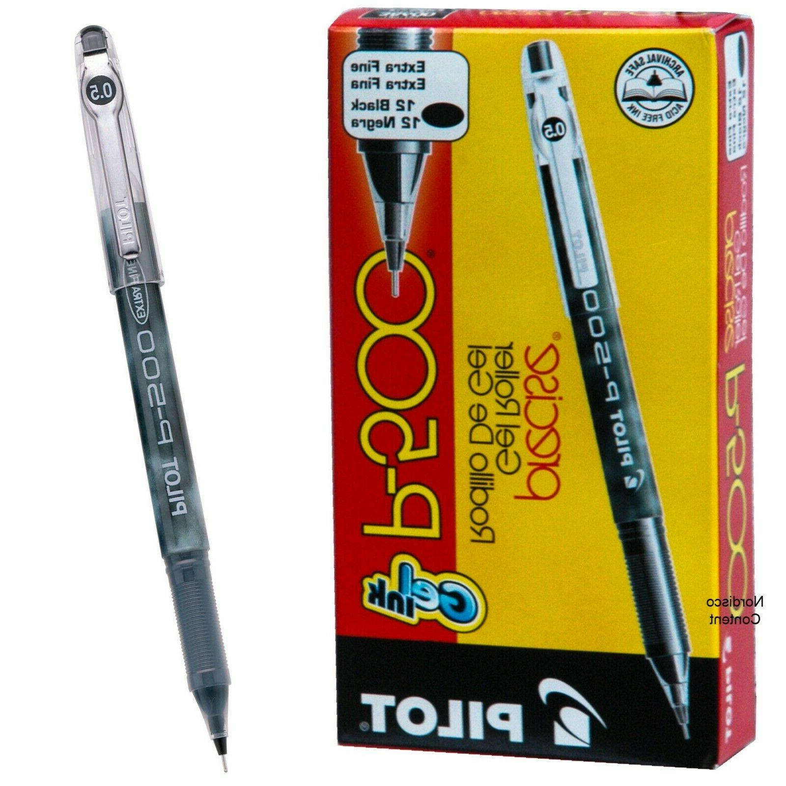 Pilot P-500 Gel Ink Rollerball Pens, 0.5 mm, Extra Fine Poin