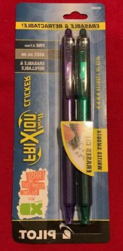 Pack of Pilot Ball Frixion Clicker 0.7mm Erasable Retractabl
