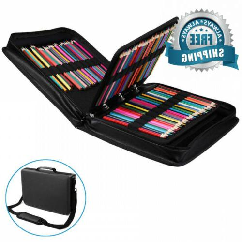 pencil case holder 210 slots pu leather