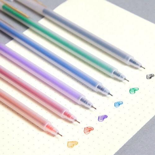 6 Colors Gel Pen DIY Art Pen Gel Ink Pens Glitter Coloring D