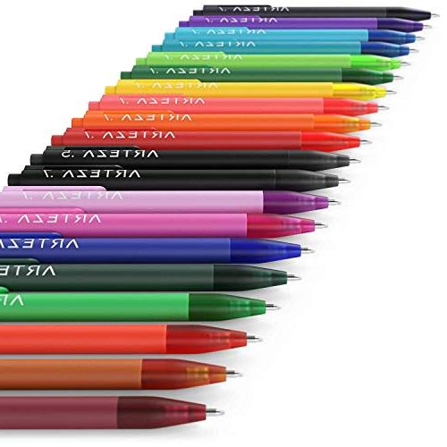 ARTEZA Pens, 20 Assorted Colors, Tip 0.7 Perfect Writing in Journal, on Invitation More!