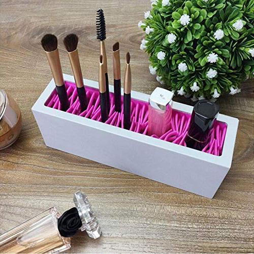 Silicone Brush Holder Desk Bag Pouch Earring,Stationery Holder,Colored Pencils,Gel Supplies