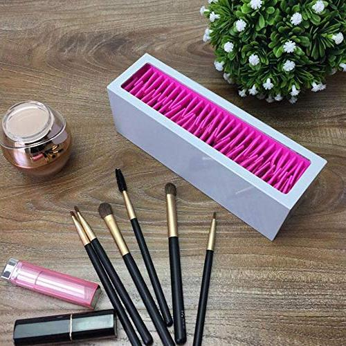 Silicone Makeup Desk Organizer,Beauty Tools Bag Pouch and Earring,Stationery Pencils,Gel Supplies