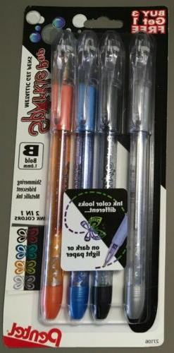 Pentel® Sparkle Pop Gel Pens, Medium Point, 1.0 mm, Assorte