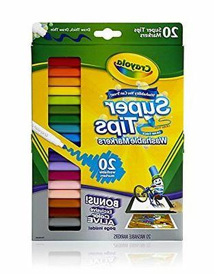 washable super tips markers