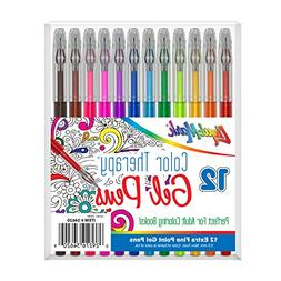 Liqui-Mark Color Therapy Extra Fine Point Gel Pens Set - 12