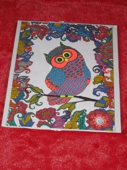 OWL Hand-Colored with Gel / Glitter Pens Art, Picture, Poste