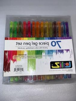 LolliZ Painting 70 Gel Pens Tray Set, 70 Unique Color Choice