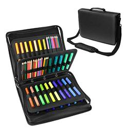 Colored Pencil & Gel Pen PU Case with Large Flexible Slot -