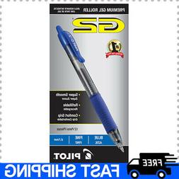 Pilot G2 Blue Fine Gel Ink Rolling Ball Pen 12pk Retractable