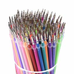 Practical 12/36/48 Colors Glitter and Neon Gel Pen Refill Pa