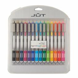 retractable gel pens bold point 1 0