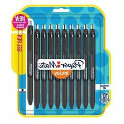 Retractable Gel Pens, .7mm, 10/PK, Black Barrel/Ink
