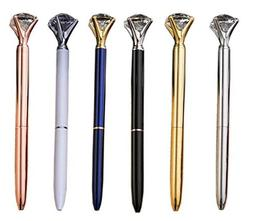 Rose Gold Diamond Pen Big With 6 Pcs/Set - Blue Ink Color Ro