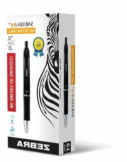Zebra Sarasa Dry X1 Retractable Gel Ink Pens, 0.7mm, Black R