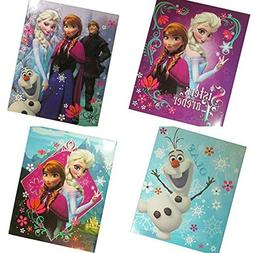 Disney's Frozen 4 Pack of School Folders