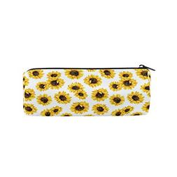 ALAZA Sunflowers with White Flower Pencil Pen Case Pouch Bag