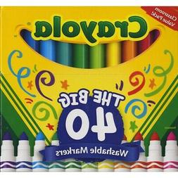 Crayola Ultra-Clean Washable Broad Line Markers 40-Color Set