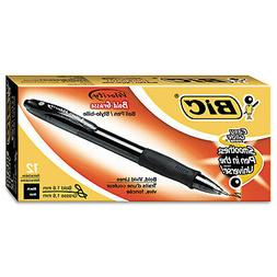 BIC Velocity Bold Retractable Ball Pen, Bold Point , Black,