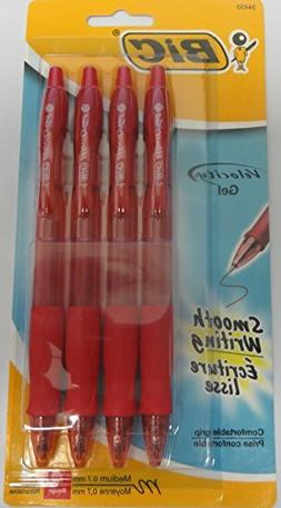BIC Velocity Retractable Gel Ink Rollerball Pens, Medium Poi