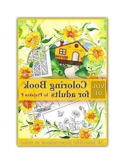 Vol 01 - Coloring book for adults, Spiral bound, easy and fu