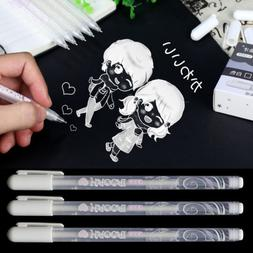 White Gel Ink Pen Artist DIY Painting Drawing Pens Tool Mark