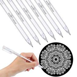 Blulu 6 Pieces White Pen for Artists Dark Papers Highlight D