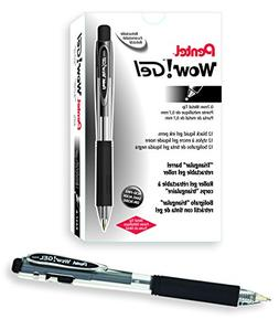 Pentel WOW! Gel Retractable Gel Pen 0.7mm Medium Line Black