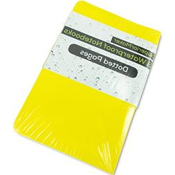 SuperiorMaker Small Yellow Dotted Waterproof Notebook  - Poc