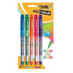 Bic RollerGlide Fine Point Deco Neon Pens, Assorted Colors 5